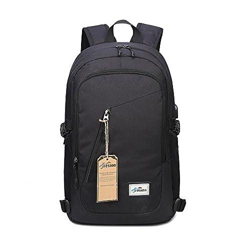 Fresion Laptop-Rucksäcke Damen Herren für 15,6 zoll Notebook Tasche mit USB Ladeport Stylishe Leichtgewichtiger Business Rucksack Cityrucksack für Büro Schule Reise 26L×13B×48H cm (Herren Rucksäcke)