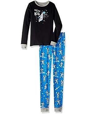 Hatley Organic Cotton Long Sleeve Appliqué Pyjama Set, Conjuntos de Pijama para Niños