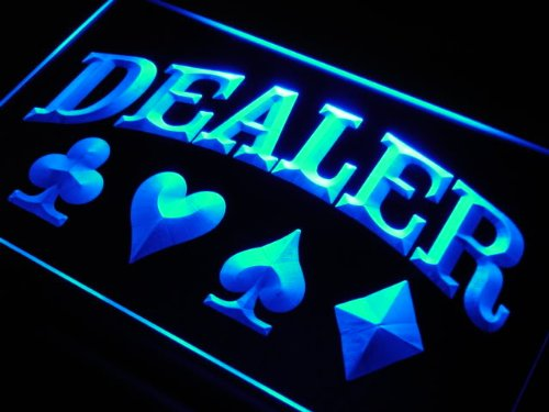 Enseigne Lumineuse s220-b Dealer Poker Casino Neon Light Sign