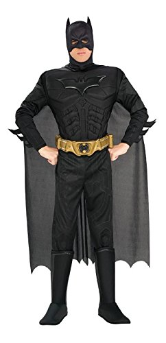 The Dark Knight Rises Deluxe Herren Kostüm Batman Gr.XL (Batman Dark Knight Rises Kostüm)
