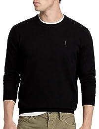 a7b9c69bceaf Ralph Lauren Polo New Mens Black Merino Wool Crew Neck Jumper Sweater