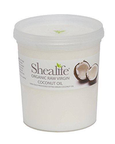 Organic Raw Virgin Coconut Oil, for Moisturing & Treating Dry Skin & Conditioning Damaged Hair Supplied Direct by Shea Life Skincare 1 Kg Tub by SHEA LIFE