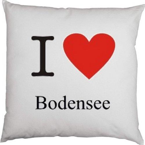 Kissen mit Füllung, Dekokissen, Couchkissen, Deko mit Herz - I love Bodensee