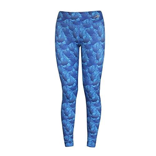 CompressionZ Damen-Kompressionshose–Lange Leggings/Tights zum Laufen, Yoga, Fitness XS Leaves Green