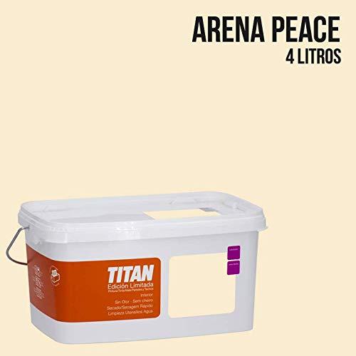 Pintura Colores Titan Edición Limitada - Arena Peace 4 L