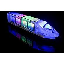 Treno elettrico per bambini - Con luci LED e musica. Grande regalo di compleanno, regalo per bimbi da 3 anni in su.