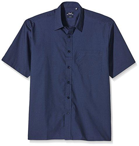 Premier Workwear Herren Businesshemd Poplin Short Sleeve Shirt Blau (Navy)