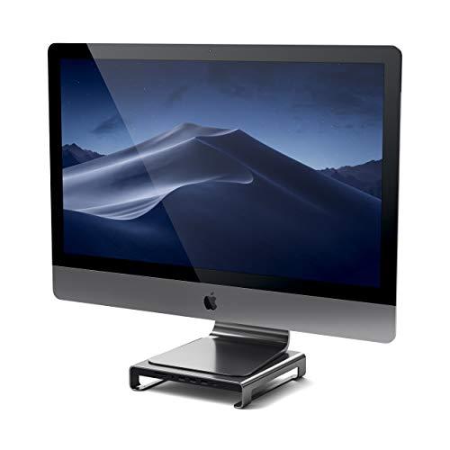 SATECHI Typ-C Aluminium iMac Ständer mit eingebautem USB-C für Daten, USB 3.0, MicroSD/SD- Kartensteckplätzen & Audioanschluss kompatibel mit iMac Pro und 2017 iMac (Space Grau)