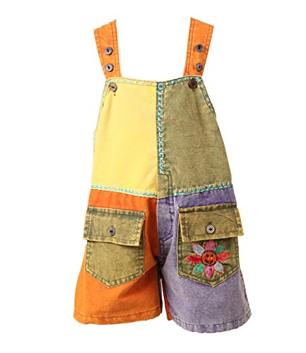 The Hippy Clothing Co. - Kids Festival Dungarees Shorts (5-6 yrs)