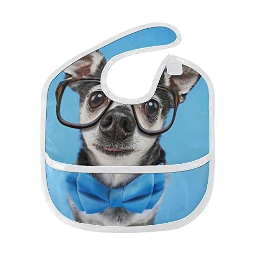 Tier Kostüm Benutzerdefinierte - Niedliche Chihuahua Hund Tier Benutzerdefinierte weiche wasserdichte Fleck geruchshemmend Baby Fütterung Dribble Sabber Lätzchen Spucktücher für Kleinkind insgesamt für 6-24 Monate Kind Geschenk