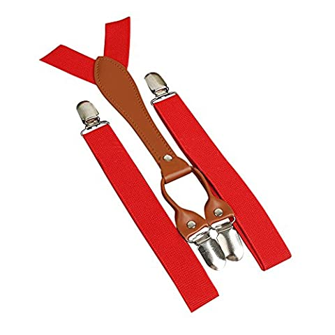 Bluelans® Kids Childrens Braces Fully Adjustable and Elastic Clip on Suspenders Y shape with Strong