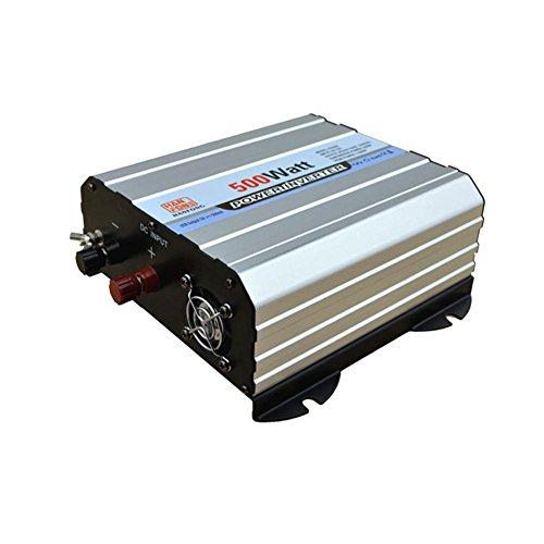 Inverter,Invertitore di potere 500 W DC 12V a AC 110V Trasformatore di tensione dell'automobile Accenditore di sigaretta 2 Caricabatteria da auto USB (argento)