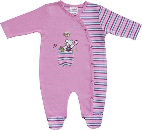 Schnizler Baby - Mädchen Schlafstrampler Interlock Schlafanzug Bärchen, Gr. 56, Rosa (original 900)