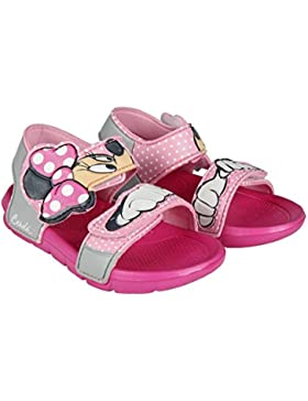 Minnie Mouse Disney - Sandalias de Piscina o Playa EVA Color Rosa + Regalo - Disney Minnie Sandal (Tallan Justo)