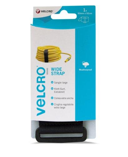 VELCRO - 1 WIDE Strap 50mm X 92 cm schwarz - 1 Klett-Gurt EXTRABREIT (B x L) 50mm x 92 cm schwarz