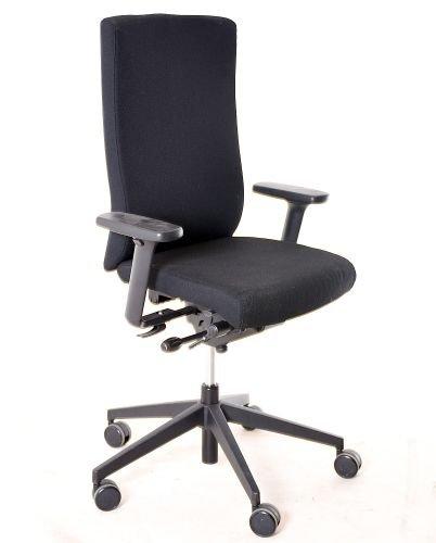 "Bürodrehstuhl \""DAUPHIN\"" Textilbezug schwarz, gebrauchte Büromöbel"