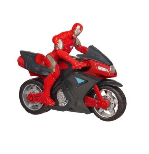 Avengers Hasbro 39684 The Avengers - Figure of Iron Man with motorbike