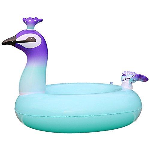 sw-ning aufblasbar Pool schwimmt, Giant Pfau Pool Float Wasser Float Raft Schwimmen Ring Swim Pool Liege Strand Ring für Erwachsene Kinder, pfau, 119,38 cm