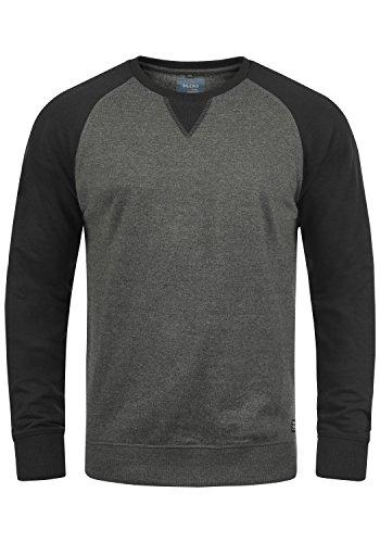 Blend Aari Herren Sweatshirt Pullover Pulli Mit Rundhalsausschnitt, Größe:L, Farbe:Pewter Mix (70817)