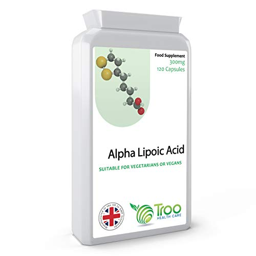 Alpha Lipoic Acid 300mg Supplement – 120 Capsules | 50-50 Blend RALA and SALA | UK Manufactured to GMP Standards