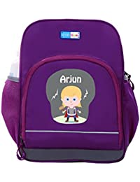 UniQBees Personalised School Bag With Name (Little Life Pre-School Backpack-Purple-Thor)