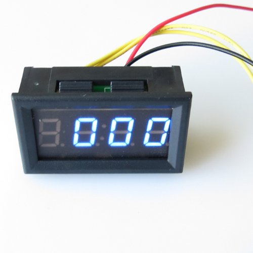 atoplee DC4.5-30V Mini 1cm blau LED Digital Stunde Meter 12V 24V KFZ LKW Uhr (V-meter 12)