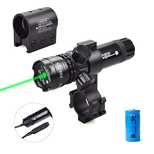 Torcia elettrica tattica antiurto 532nm Luce verde Dot Mirino