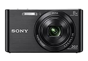 Sony DSC W830 Cyber-shot 20.1 MP Point and Shoot Camera (Black) with 8x Optical Zoom, Memory Card 16GB and Camera Case