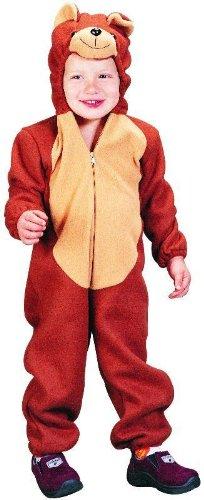 m für Jungen Bär Mädchen Bärenkostüm Tierkostüm für Kinder Größe 104 ()
