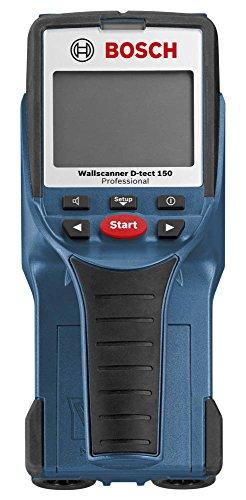Bosch Professional Wallscanner D-tect 150, 150 mm Erfassungstiefe, Schutztasche, 4 x 1,5-V-LR6-Batterien (AAA)