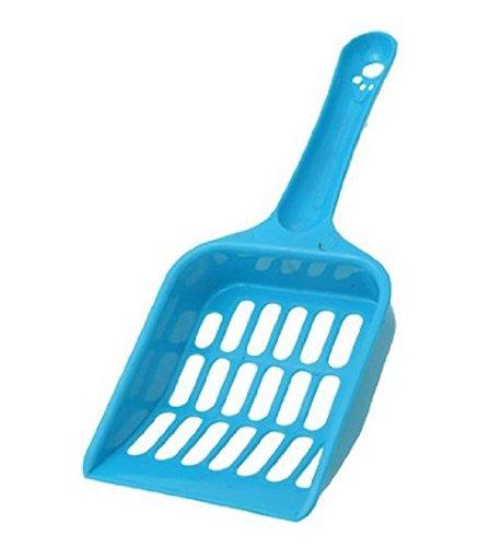 Tragbare Plastikkatzenstreuschaufel blau