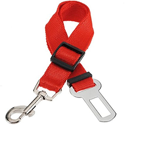 Domire New Car & Van Dog Pet Travel Safety Guard Adjustable Harness Attached Seat Belt Lock Clip