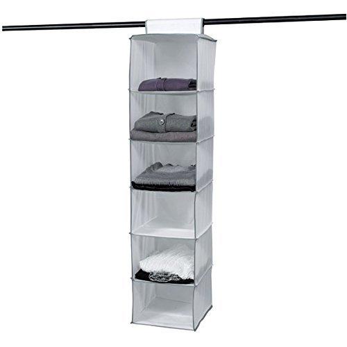 Compactor Estantería Colgante Flexible para Calzado y Ropa, 6 Compartimentos, Fijación con...