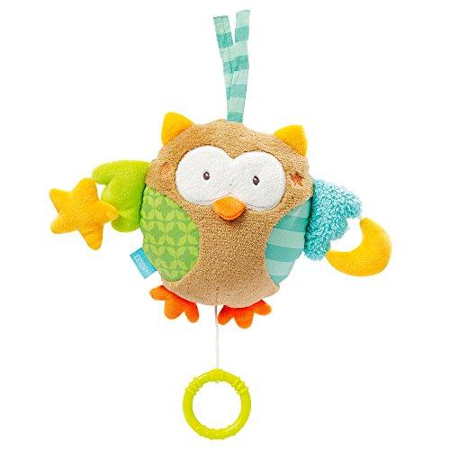 Eule / Aufzieh-Spieluhr mit zwei Gesichtern zum Aufhängen, Kuscheln und Greifen, für Babys und Kleinkinder ab 0+ Monaten ()