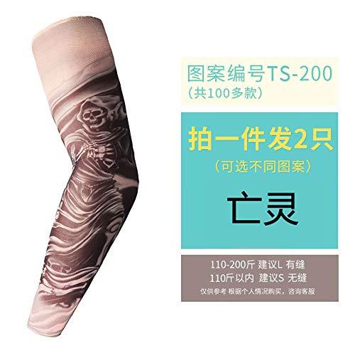 Der Kostüm Armee Untoten - JinRui-Sport Tattoo Sleeve Tattoo Sleeve Flower Arm Sonnenschutzhandschuhe, S, Undead 2 Packungen