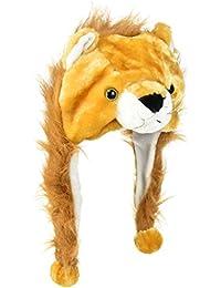 Y-BOA - Bonnet/Chapeau Ski Peluche Animaux- Adulte/ Enfant - 18*30CM- Automne/Hiver- Déguisement (#6 Brun Lion)
