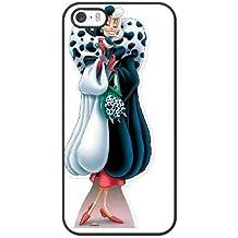 Generic Cell Phone Case for Funda iphone 5 5S SE Black Cruella de Vil 101 Dalmatians H0V6GN
