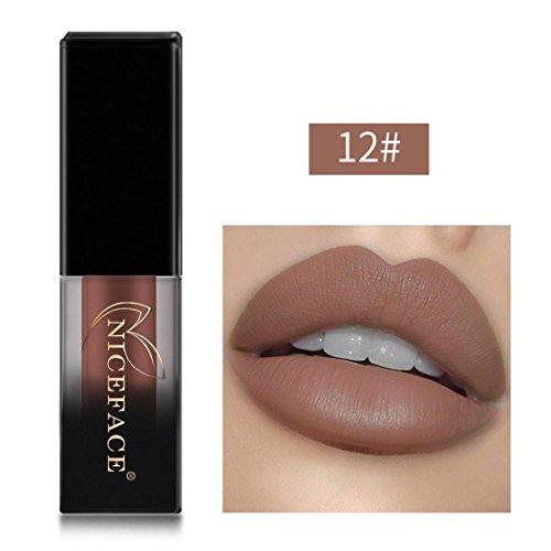 ESAILQ Neue 18 Shades Schattierungen matte Lippen Dessous flüssige Lippenstift, langlebig und wasserdicht (12#) (Neue Dessous)