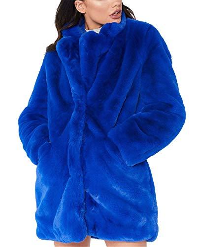 Abrigo piel sintetica azul
