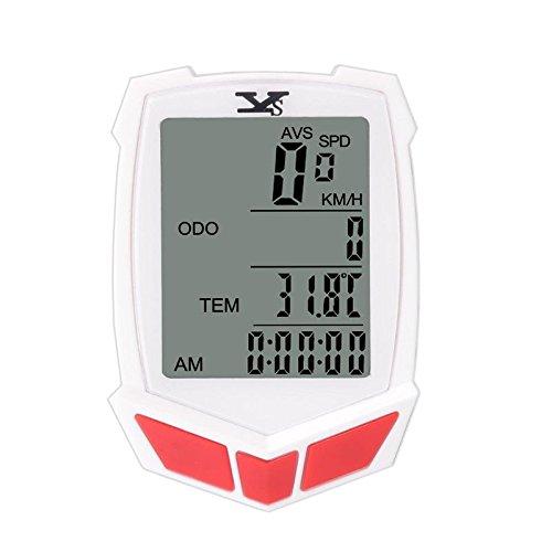 oser LCD Hintergrundbeleuchtung speedomete Kilometerzähler, ys-661C, weiß (Durchschnittliche Wetter)