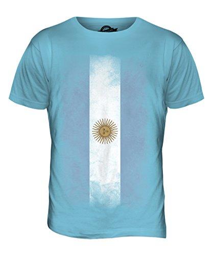 CandyMix Argentinien Verblichen Flagge Herren T Shirt Himmelblau