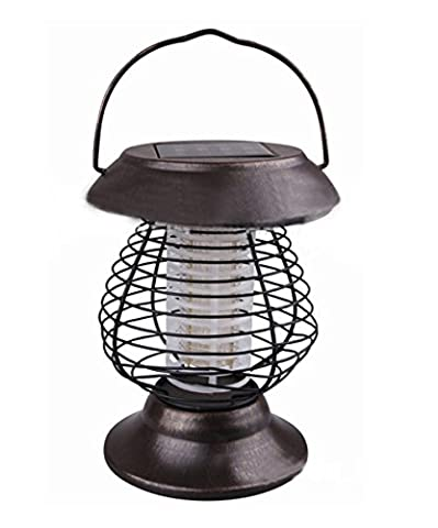 HomJo 2 PCS Light Weight Portable Insect Insect Repeller Mosquito Fly Bug Killer Solar Garden Pathway Lights Lawn Camping Lamp Hang ou Stake in the Ground