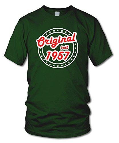 shirtloge - ORIGINAL SEIT 1957 - KULT - Geburtstags T-Shirt - in verschiedenen Farben & Größen Dunkelgrün