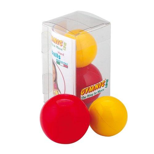 Gymnic - Pelotas Terapéuticas Para Ejercicios Manos y Dedos   Coordinación   Rehabilitación (x2) - Diámetro 4cm y 5cm - Bolas Flexibles Para Terapia - Ayuda Capacidad Motora