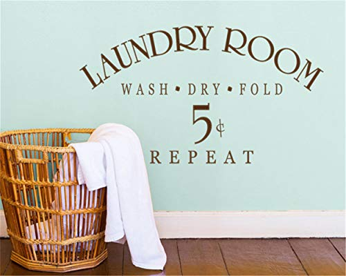 Wandtattoo Schlafzimmer Laundry Sign Symbol Wall Decal Quotes Laundry Room Wash Dry Fold Repeat Wall Stickers for laundry room