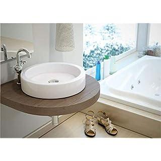Art-of-Baan® - Design Keramik Waschbecken, Waschschale Aufsatz hochglanz rund 45,5 * 45,5 * 10 cm reinweiß, (Circus)