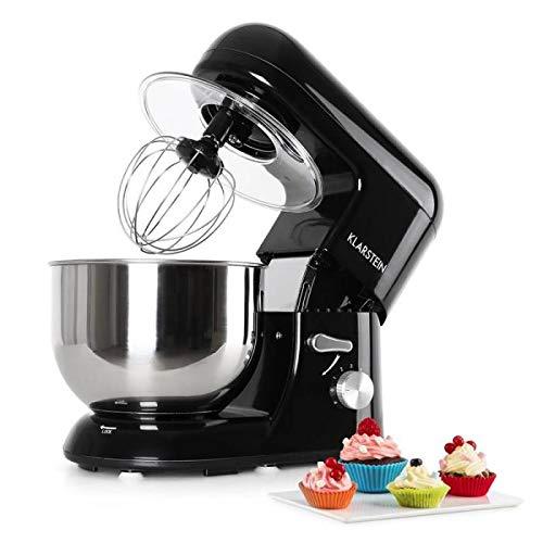 Klarstein Bella Nera Robot de cocina 2 en 1 - Batidor, Amasador, Rendimiento 1200W, 6PS, Batido...