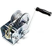 Cabrestante de cable, manual, 900kg, 10m, 2 sentidos, con 2velocidades, relación de transmisión de 4:1/8:1