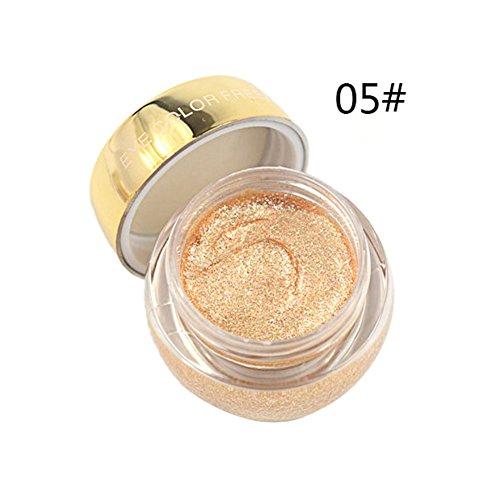 KAYI Glitter Eyeshadow Gel Cream Einzelne Augen Highlighter Cream 10G