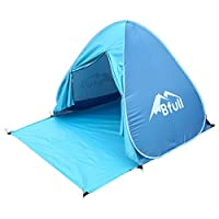 pop up tent, bfull automatic portable beach tent with curtain sun shelters anti uv for outdoor garden camping fishing picnic